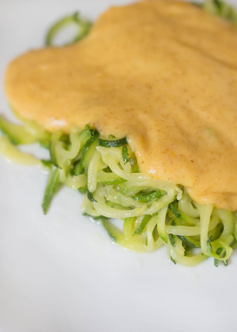 Zucchini Noodle (Zoodle) Macaroni and Cheese