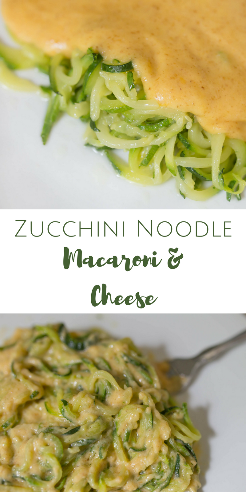 Zucchini Noodle (zoodle) Macaroni & Cheese