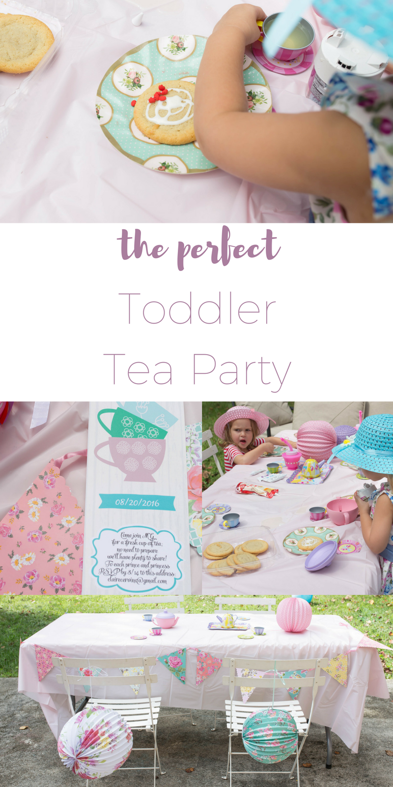 The Perfect Toddler Tea Party