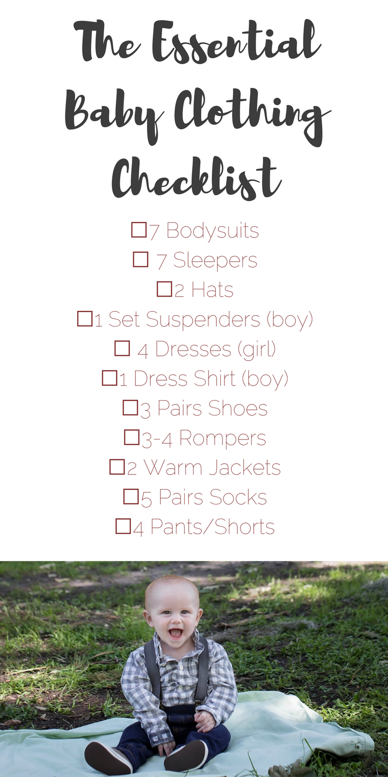 The Essential Baby ClothingChecklist