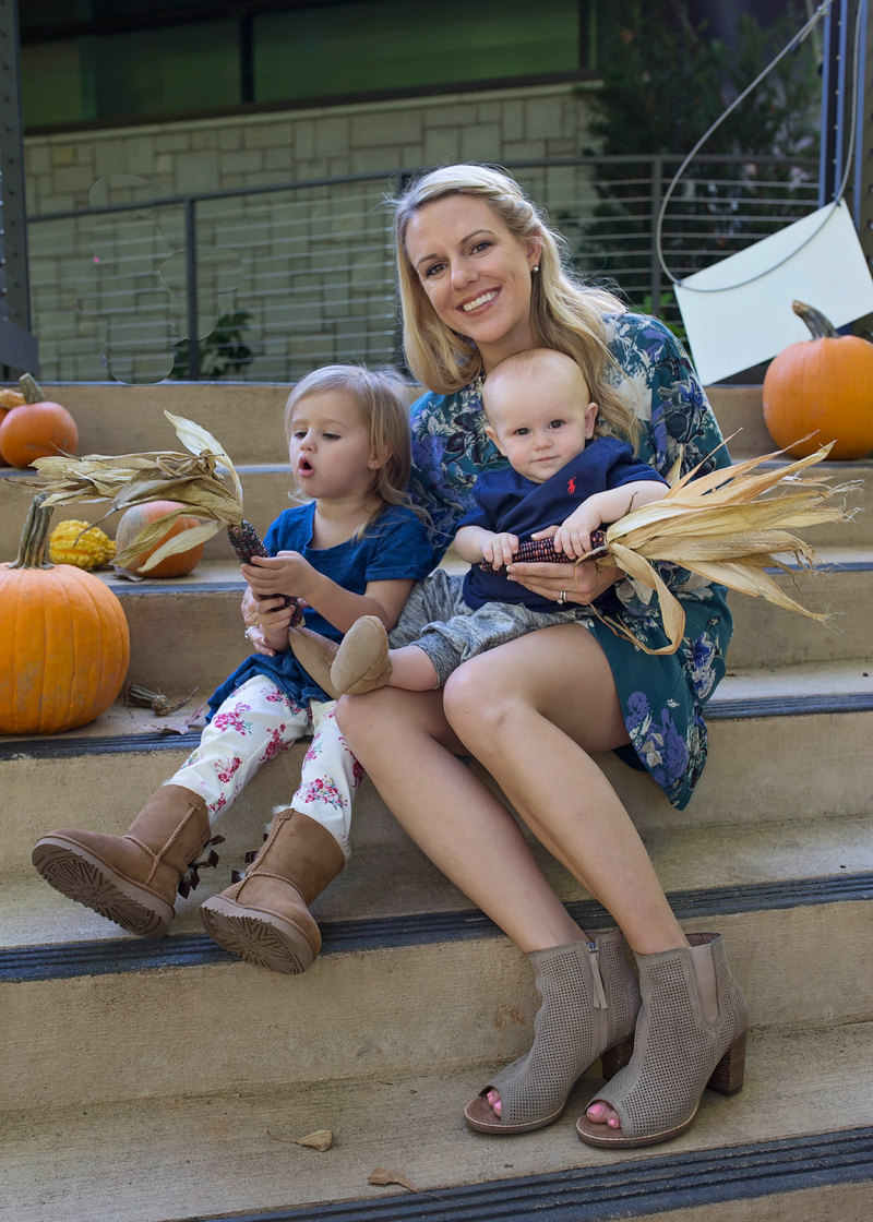 Fall family fashion looks featuring Toms and Uggs