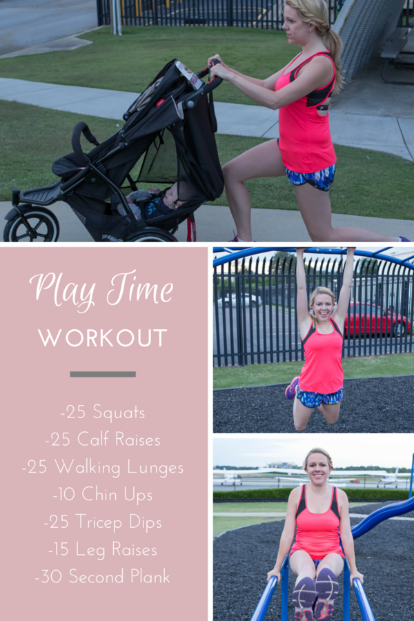 Love this! An easy playground workout that can be done whiile a kids play!
