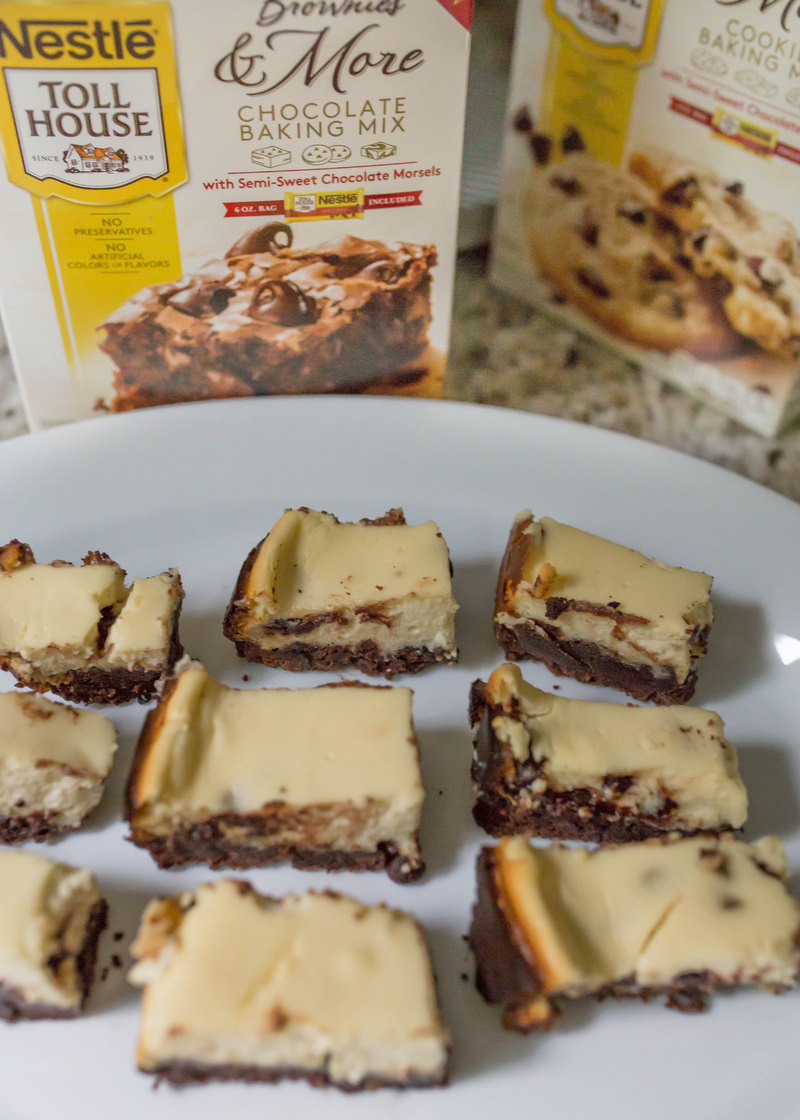 Slow Cooker Brownie Cheesecake Bars