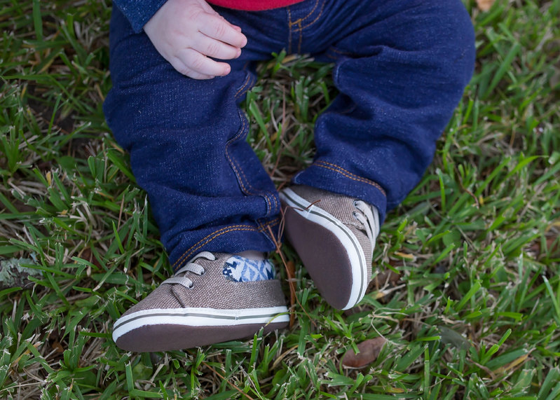 Cute little baby boy shoes
