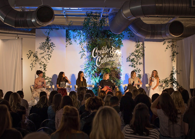 Amazing speakers from the beauty industry at Create + Cultivate