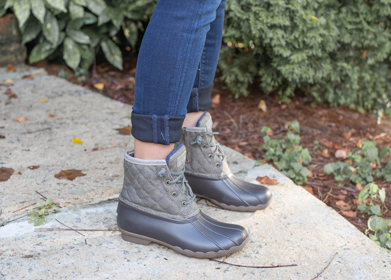 sperry quilted duck boots